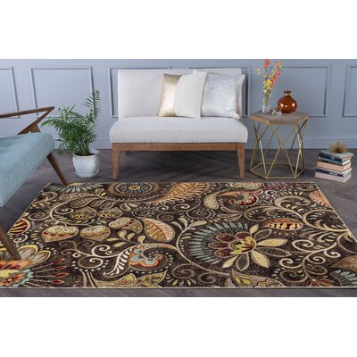 Brimmer Brown Area Rug Rug Size: Rectangle 9 x 12