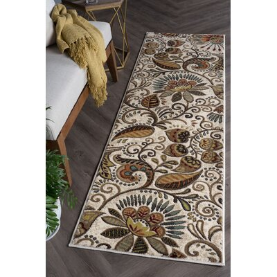 Concord Ivory Area Rug Rug Size: Runner 2 x 10