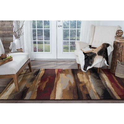 Hartle Brown/Beige Area Rug Rug Size: Rectangle 4 x 6