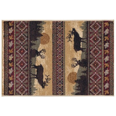 Alers Red/Brown Area Rug Rug Size: Rectangle 2 x 3