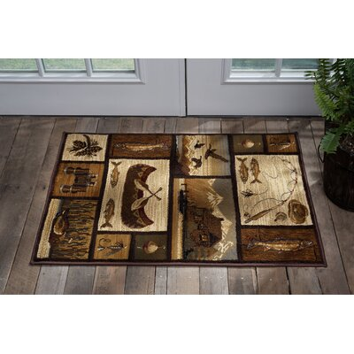 Brody Brown Area Rug Rug Size: Rectangle 2 x 3