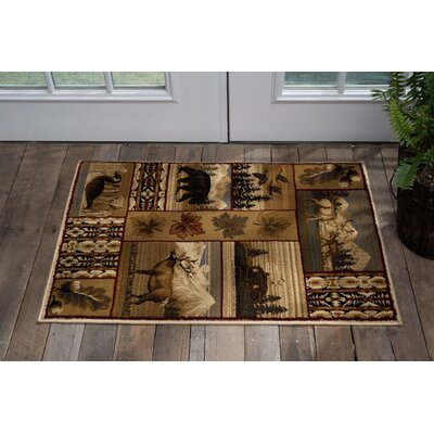 Littlefield Brown/Beige Area Rug Rug Size: Rectangle 2' x 3'
