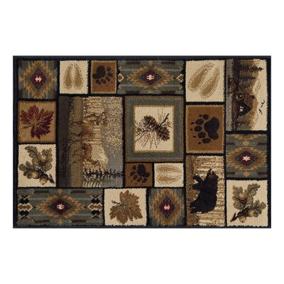 Haddam Brown/Beige Area Rug Rug Size: Rectangle 2 x 3