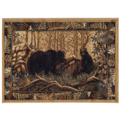 Josephine Beige/Brown Area Rug Rug Size: Rectangle 2' x 3'