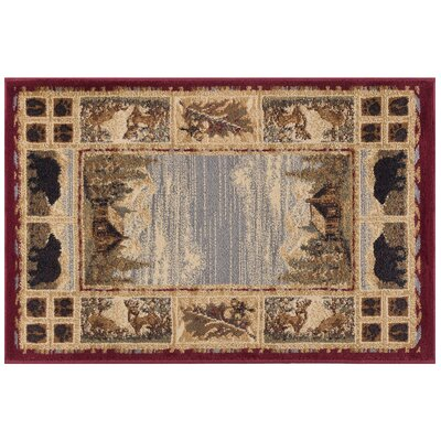 Badlands Red/Beige Area Rug Rug Size: Rectangle 4 x 6