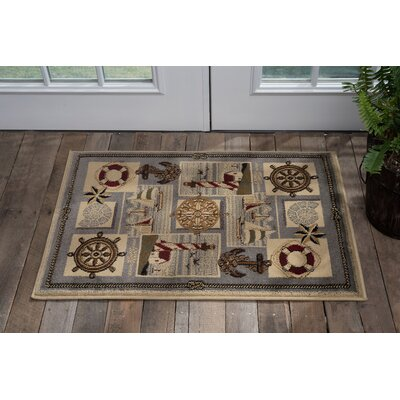 Averill Gray/Beige Area Rug Rug Size: Rectangle 2 x 3