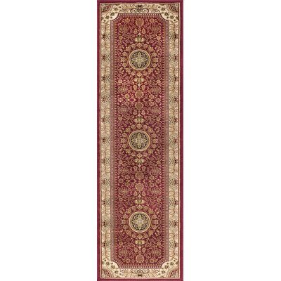 Clarence Red/Beige Area Rug Rug Size: Runner 2 x 8
