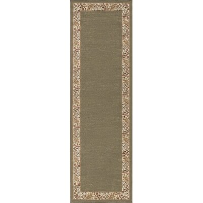 Clarence Green Area Rug Rug Size: Runner 2 x 8