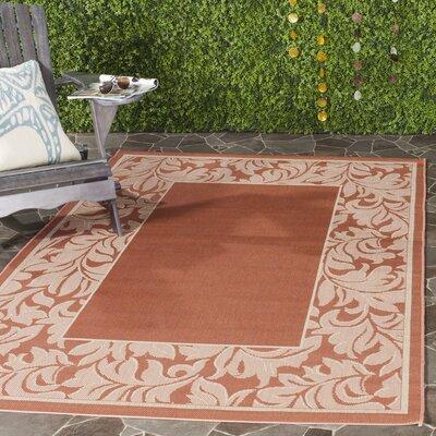 Octavius Terracotta/Natural Outdoor Rug Rug Size: Rectangle 53 x 77