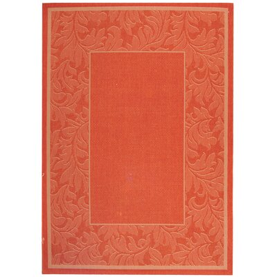 Octavius Terracotta/Natural Outdoor Rug Rug Size: Rectangle 67 x 96