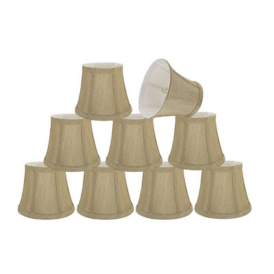 Small Clip-On 6 Fabric Bell Candelabra Shade Color: Beige