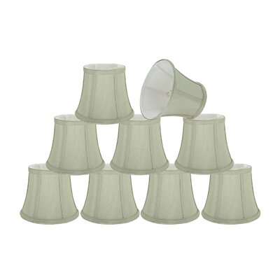 Small Clip-On 6 Fabric Bell Candelabra Shade Color: Ivory