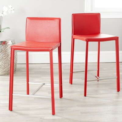 Angelia 26 Bar Stool Finish: Red