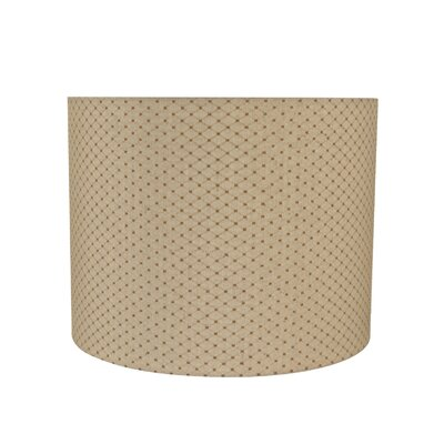 Transitional Spider Construction 14 Fabric Drum Lamp Shade
