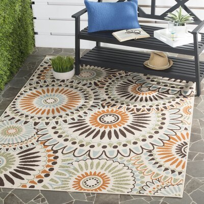 Caroline Indoor/Outdoor Rug in Chocolate Rug Size: Rectangle 53 x 77