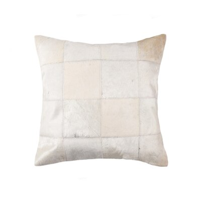 Oberry Leather Throw Pillow Color: Off White
