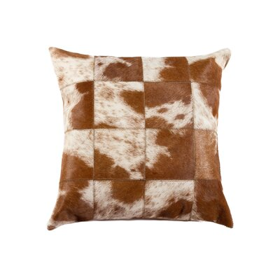 Oberry Leather Throw Pillow Color: Brown/White