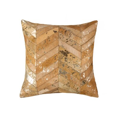 Callihan Chevron Throw Pillow Color: Gold/Tan