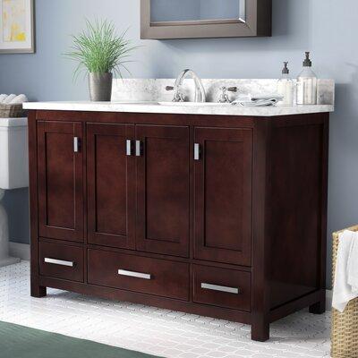 Makenna 49 Single Bathroom Vanity Set Top Finish: Carerra White