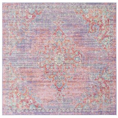 Bangou Lavender/Fuchsia Area Rug Rug Size: Square 6