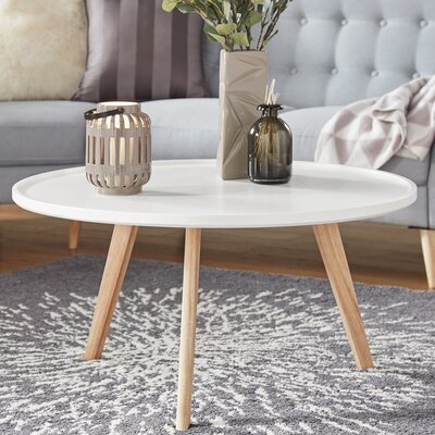 Swofford Coffee Table Table Top Color: White