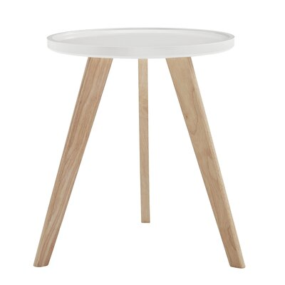 Swofford End Table Table Top Color: White