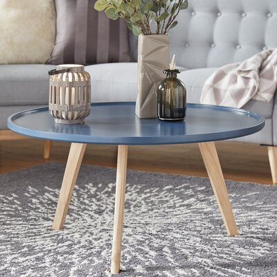 Swofford Coffee Table Table Top Color: Blue Steel