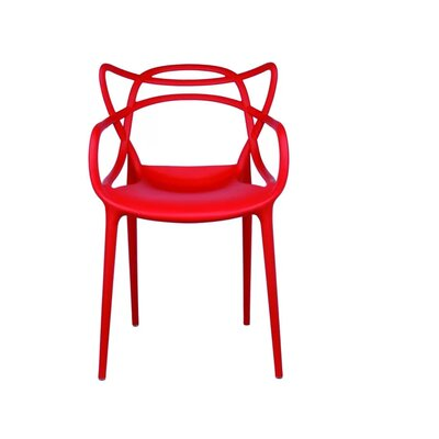 Burkhart Dining Chair Color: Red