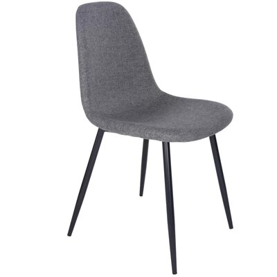 Westfall Upholstered Dining Chair Color: Gray
