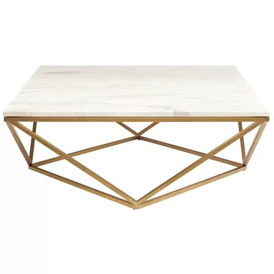 Plutarch Marble Coffee Table Finish: Gold