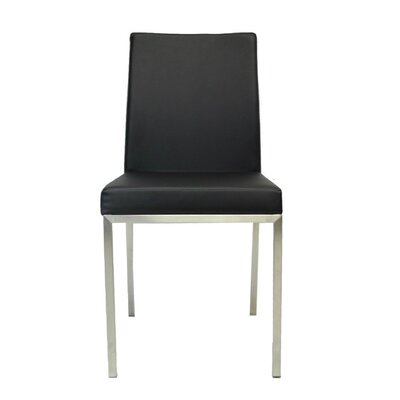 Bruckner Upholstered Dining Chair Color: Black