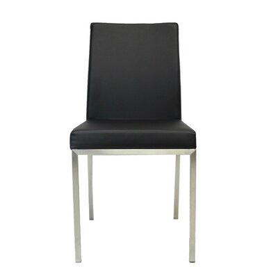 Bruckner Upholstered Dining Chair Color: Black