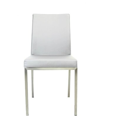 Bruckner Upholstered Dining Chair Color: White