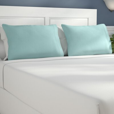 Bilbrey Infinity Embroidered Pillow case Size: King, Color: Aqua Marine