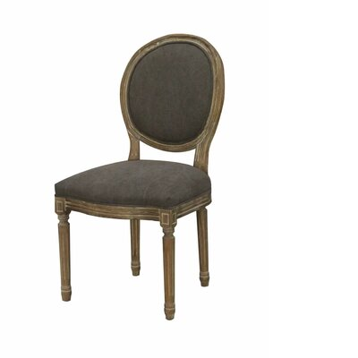 Letitia Upholstered Dining Chair Color: Black