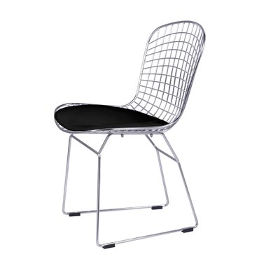 Pointer Wire Dining Chair Color: Black