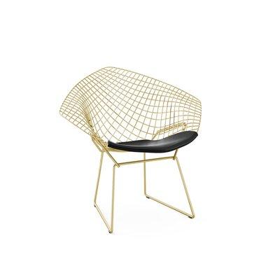 Polen Diamond Papasan Chair Finish: Gold