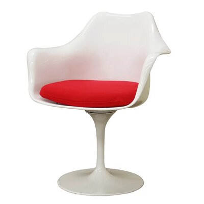 Burgos Pedestal Dining Chair Color: Red