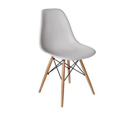 Westman Dining Chair Color: Gray, Leg Color: Natural