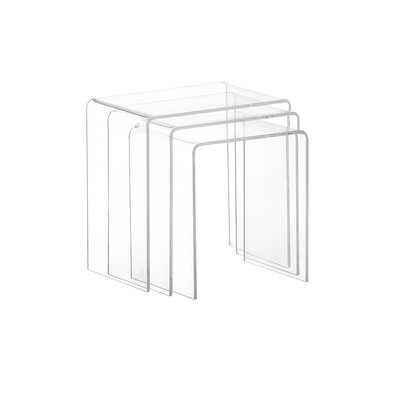 Brunk Acrylic 3 Piece Nesting Tables