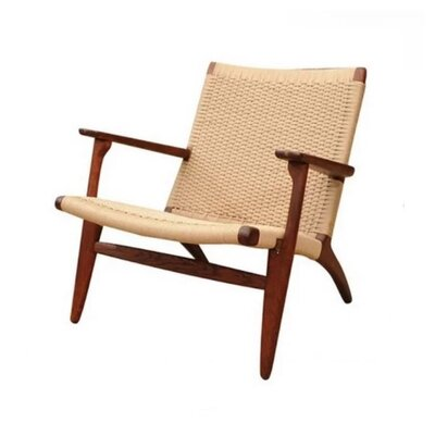 Billiot Lounge Chair Color: Walnut, Size: 28 H x 28 W x 30 D