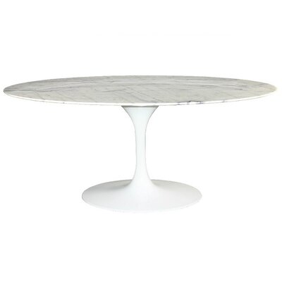 Westendorf Oval Marble Dining Table Size: 66