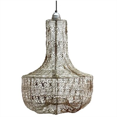 Stephani Wire Weave 1-Light Inverted Pendant