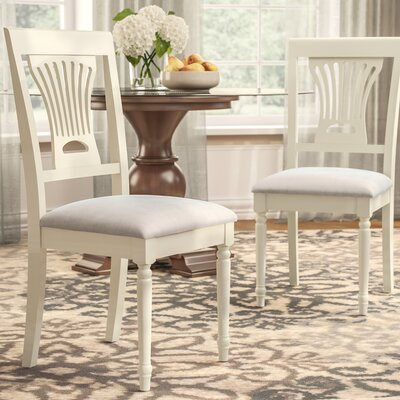 Inwood Soft Padded Dining Side Chair Finish: Buttermilk/Off White