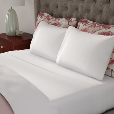 Ratchford Hemstitch 500 Thread Count 100% Cotton Sheet Set Color: White, Size: Queen