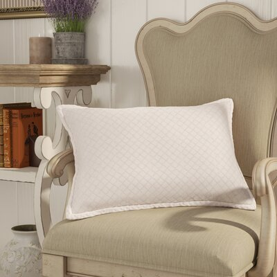Troene 100% Cotton Lumbar Pillow Color: Blush, Fill Material: Down Fill