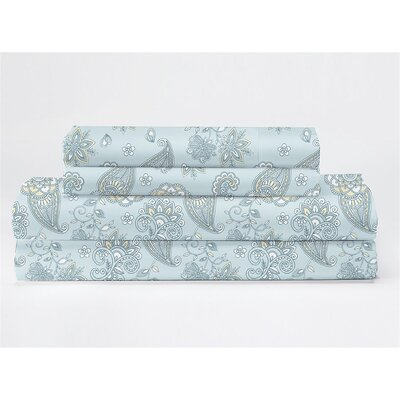 Sydnor 350 Thread Count 100% Cotton Sheet Set Size: King, Color: Blue Green