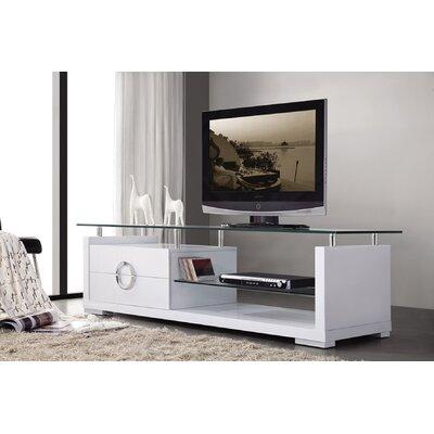 Sherron 71 TV Stand Color: White