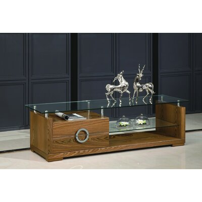 Sherron 71 TV Stand Color: Walnut