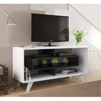 Demaio 54 TV Stand Color: White/Black